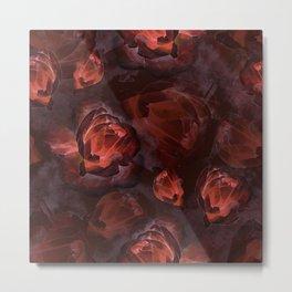 Dark watercolor roses Metal Print