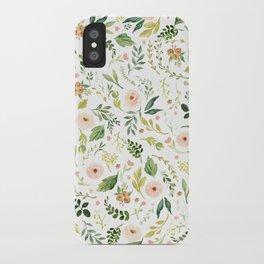 Botanical Spring Flowers iPhone Case
