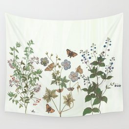 The fragility of living - botanical illustration Wall Tapestry