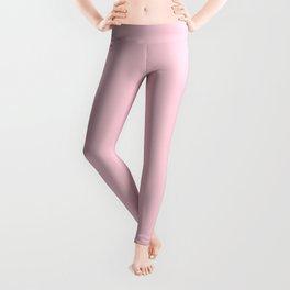 Light Soft Pastel Pink Solid Color Leggings