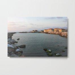 Marina Di Pisa Sunset View Of The Town Metal Print