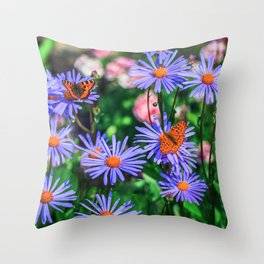 Bright Summer Throw Pillow