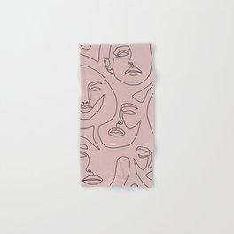 Blush Faces Hand & Bath Towel