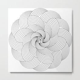 Mandala circle Metal Print