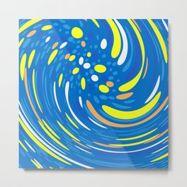 Abstract Art Swirl dots Metal Print