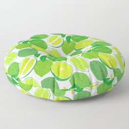 Lime Harvest Floor Pillow