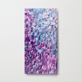 FROSTED FEATHERS 1 Colorful Lavender Purple Lilac Serenity Rose Quartz Ombre Ocean Splash Abstract Metal Print