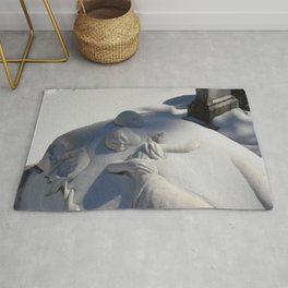 Essendo Morti - Brother and Sister Tomb - Swan Point Cemetery - by Jeanpaul Ferro Rug