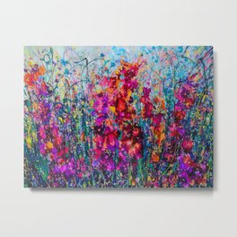 Inhale Love Pollock Inspired Abstract Metal Print