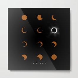Total Solar Eclipse August 21 2017 Metal Print