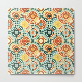 Bauhaus Geometric Metal Print