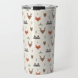 Minimalist Forest Animals Travel Mug
