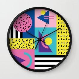 Memphis pattern 53 - 80s / 90s Retro Wall Clock