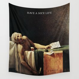 The death of Marat with Have a Nice Life logo Wall Tapestry