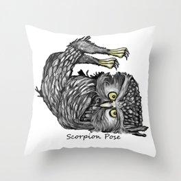 Scorpion pose Throw Pillow