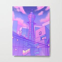 Pastel Osaka Metal Print