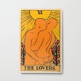 Gay Lovers Tarot Metal Print