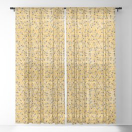 Bees on Honeycomb Sheer Curtain