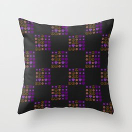 Halloween Patchwork Weave Throw Pillow