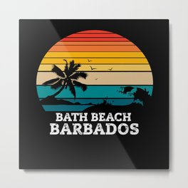 BATH BEACH BARBADOS Metal Print