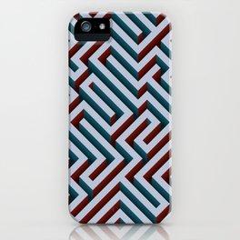 Blue Maze iPhone Case