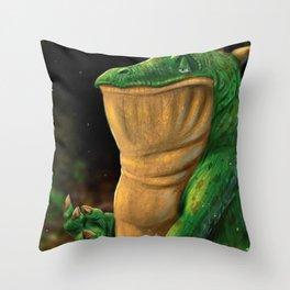 Snap Dragon Throw Pillow