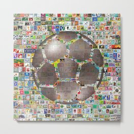 Soccer Ball on Philately Metal Print