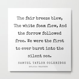 27     | Samuel Taylor Coleridge Poems | 200207 Metal Print