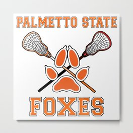 Palmetto State Foxes Exy Crest Metal Print