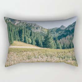 Late Summer Mountain Landscape - Tatry Poland - Mountains and Valley Rectangular Pillow