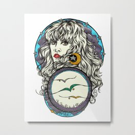 The 3 Birds of Rhiannon Metal Print