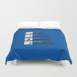 Eat Sleep Anime Duvet Cover