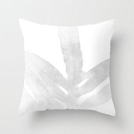 Ghost Fern Throw Pillow