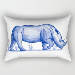 Save The Rhinos (50% of commissions are donated to the World Wildlife Fund) Rectangular Pillow