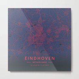 Eindhoven, Netherlands - Neon Metal Print