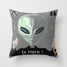 Bad Cat Throw Pillow