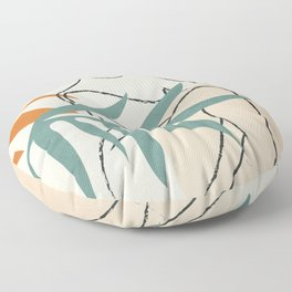 Minimal Line in Nature II Floor Pillow