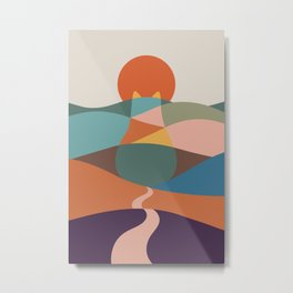 Cat Landscape 65 Metal Print