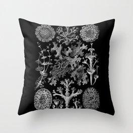 Lichens(Lichenes) by Ernst Haeckel Throw Pillow