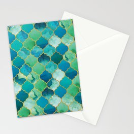 moroccan mermaid magnificence Stationery Cards