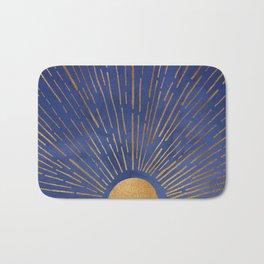 Twilight / Blue and Metallic Gold Palette Bath Mat