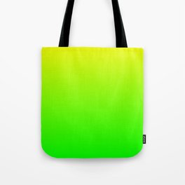 Neon Yellow/Green Ombre Tote Bag