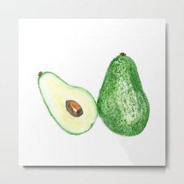 Avocado in watercolor Metal Print