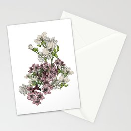 """Flower Arrangement Fall in Love Series """" Love is growing slowly"""" Stationery Cards"""