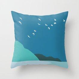 Calm night Throw Pillow
