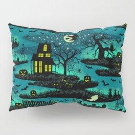 Halloween Night - Fox Fire Green Pillow Sham