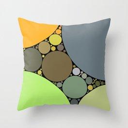 jasmine redux: earthy orange grey lime abstract Throw Pillow