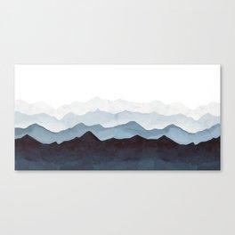 Indigo Mountains Landscape Canvas Print
