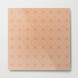 Victorian Pattern pink flowers Metal Print