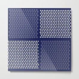Indigo Pattern 2 Metal Print